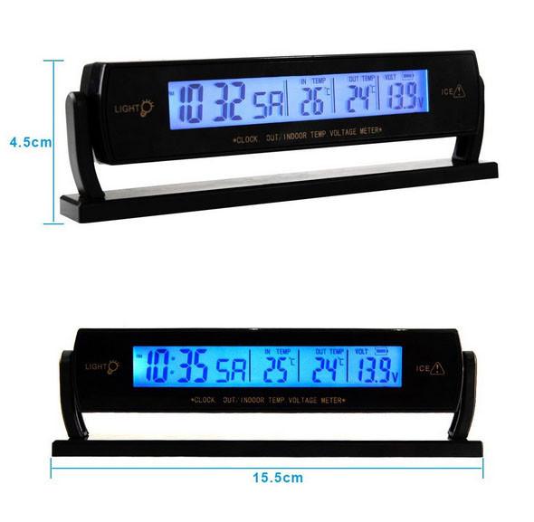 Автомобильные часы с термометром vst-7013V - Wellmarket в Харькове