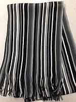 Турецкий стильный мужской шарф в полоску