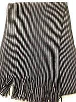 Стильный мужской шарф с бахромой  в полоску