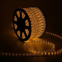 Светодиодная LED лента Дюралайт 100 м, 60 LED\м, жёлтый