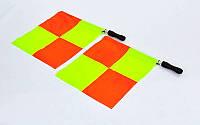 Комплект судейских флагов (флаги футбольного арбитра) 4948: 2 флага с чехлом