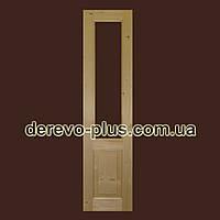 Двери из массива дерева 50см (скло) s_0150