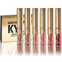 Набор жидких матовых помад 6 в 1 Kylie Birthday Edition или Valentine Edition. Отличное качество. Код: КДН2481
