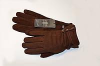 Замшевые перчатки женские, утеплённые на плюше (осенние, зимние)