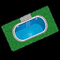 Бассейн пластиковый 10 х 3,8 х 1,5 полипропиленовый овальный переливной