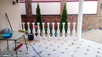 Балюстрада в Киеве на Борщаговке   Балясины из искусственного мрамора 4