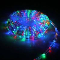 Дюралайт светодиодный, прозрачная трубка 20 м, разноцветный с переходником