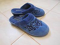 Женские махровые тапочки Белста синие