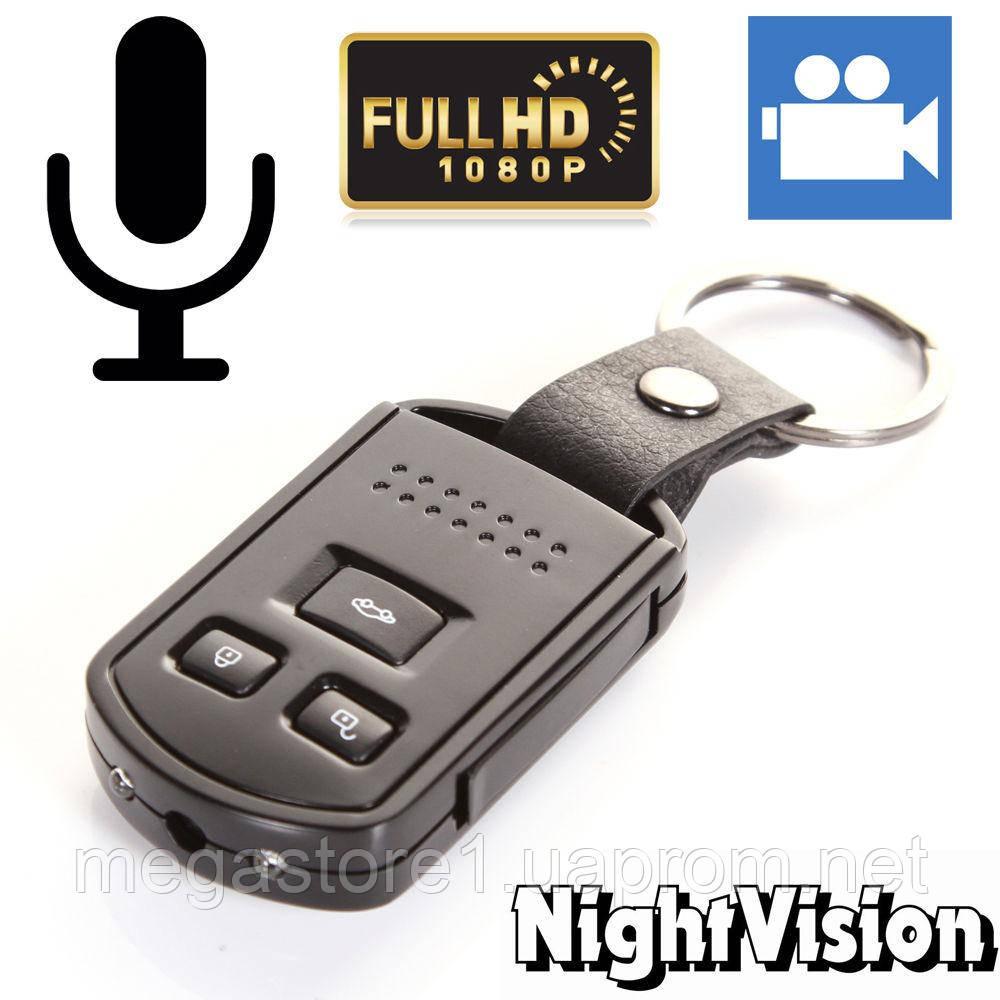 FULL HD 1080P 30fps Камера Диктофон брелок металл корпус Ночная съемка