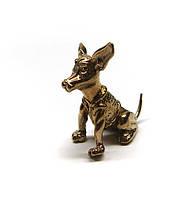 Фигурка бронзовая миниатюра Собака Чихуахуа