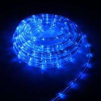 Дюралайт светодиодный, прозрачная трубка с вилкой 10 м, цвет: синий