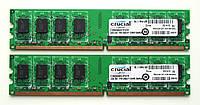 2 x 2GB DDR2 PC2-6400 800MHz ( 4GB ) INTEL amd