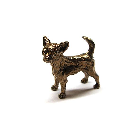 Фигурка Собака Чихуахуа бронзовая миниатюра