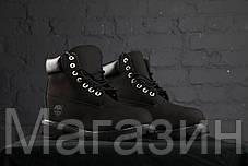 Зимние женские ботинки Timberland 6 Black С МЕХОМ зимние Тимберленд черные, фото 2