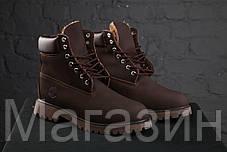 Зимние женские ботинки Timberland 6 Brown С МЕХОМ зимние Тимберленд коричневые, фото 2