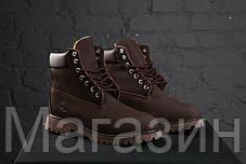Зимние женские ботинки Timberland 6 Brown С МЕХОМ зимние Тимберленд коричневые, фото 3