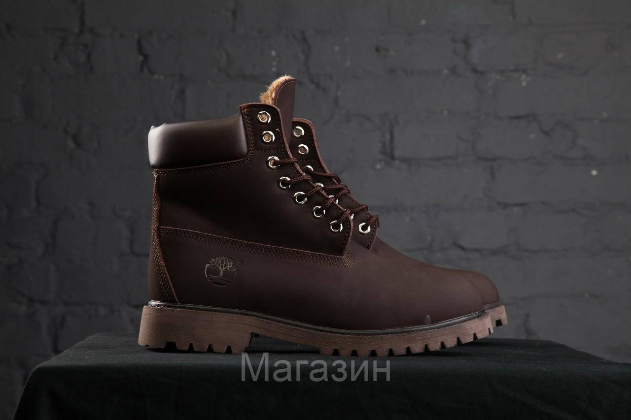 Зимние женские ботинки Timberland 6 Brown С МЕХОМ зимние Тимберленд коричневые