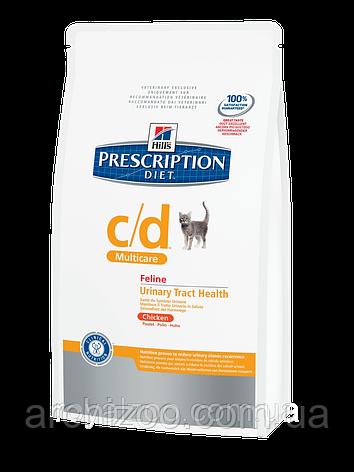 Hills PD Feline C/D Multicare для кошек при мочекаменной болезни с курицей 5 кг, фото 2