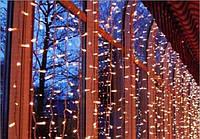 Светодиодная Гирлянда Штора Мини Новогодняя Занавеска 140 LED Лампочек 3 х 0,7 м Цвета Желтый Белый