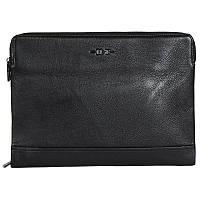 Высококачественная мужская кожаная сумка-папка под формат А4 черная HT001387-21