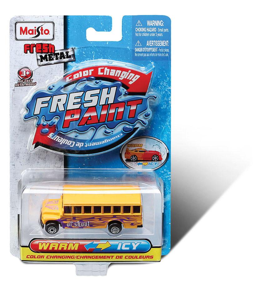 Автомодель игровая Fresh Paint, изменяет свой цвет при охлаждении Maisto