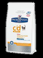 Hills PD Feline C/D Multicare для кошек при мочекаменной болезни с океанической рыбой 5 кг