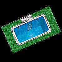 Бассейн пластиковый 3,8 х 2,5 х 1,5 полипропиленовый прямоугольный переливной, фото 1