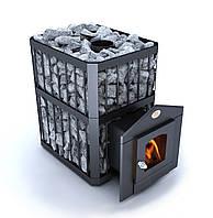 Дровяная печь для бани Новаслав Пруток ПКС-04 П - со стеклом