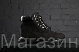Женские зимние ботинки с мехом Timberland 6 Winter Black зимние Тимберленд в стиле черные