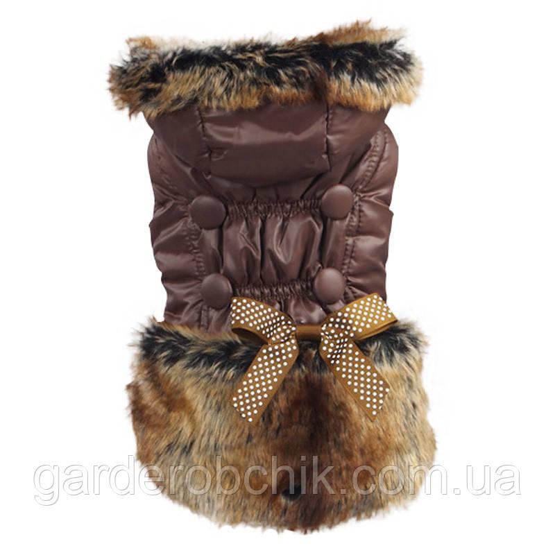 """Куртка, пальто """"С мехом"""" для собак, кошек. Одежда для животных"""