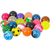 Мяч попрыгунчик разноцветный 32  мм 100 шт.