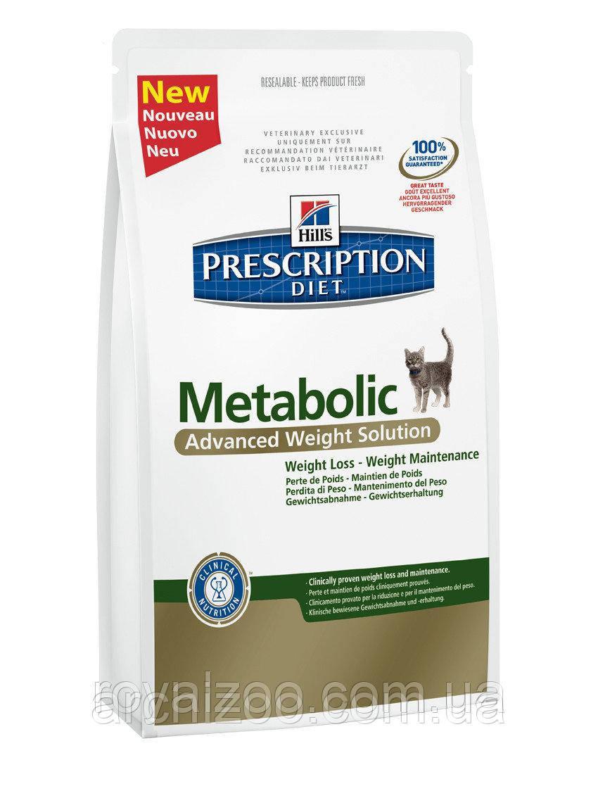 Hills PD Feline Metabolic для кошек при ожирении и лишнем весе 1,5 кг