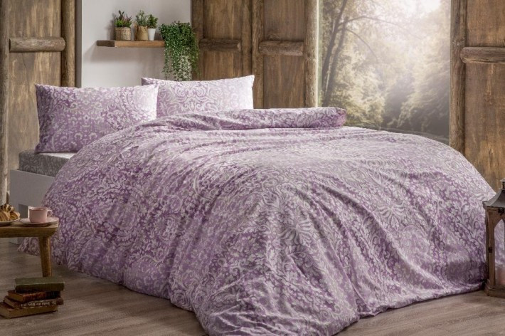 Tivolyo home КПБ RANFORCE DAMASK  евро розовый