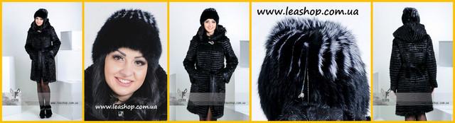Зимняя меховая шапка из кролика ФОТО