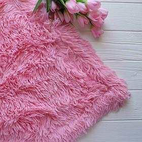 Меховый плед, материал - бамбук, цвет - розовый