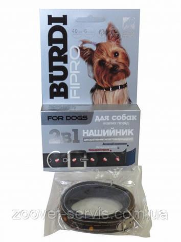 Ошейник декоративный инсекто-акарицидный Бурди фипро 2 в 1 для собак 40см, фото 2