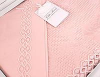 Gelin home КПБ + покрывало APRIL евро темно-розовый