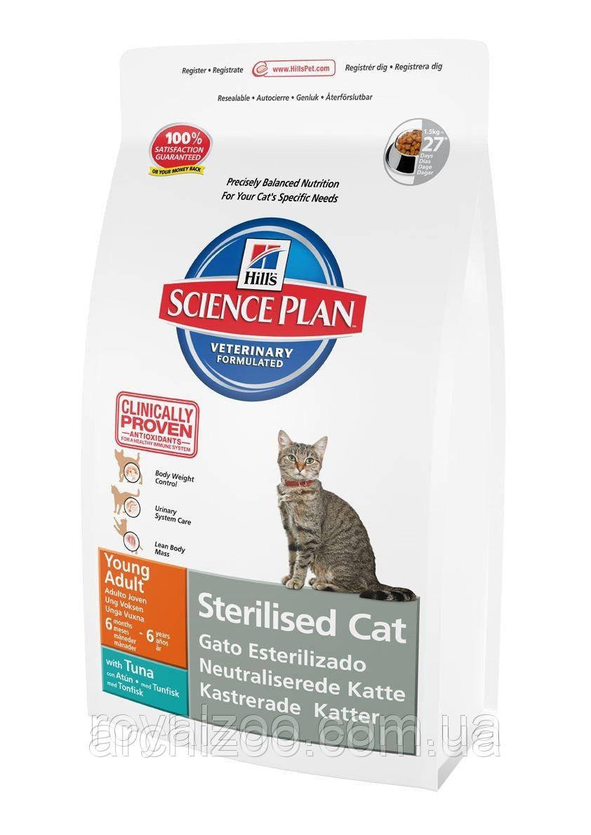 Hills SP Feline Young Adult Sterilized для стерилизованных кошек с тунцом 3,5 кг