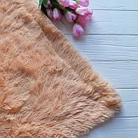 Меховый плед, материал - бамбук, цвет - персик