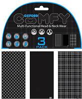 Мультифункциональный головной убор Oxford Comfy Black&White Tartan (3pk.)