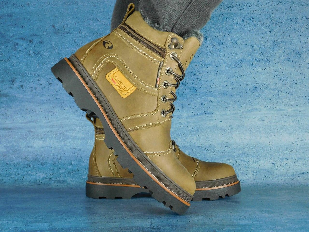 Чоловічі зимові черевики Riccone (оливка), ТОП-репліка