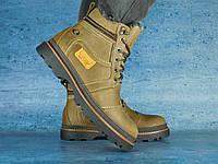 Чоловічі зимові черевики Riccone (оливка), ТОП-репліка, фото 1