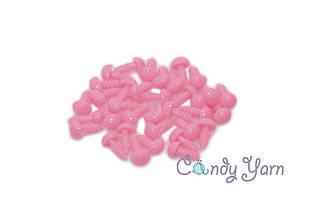 Нос для игрушек треугольный_Розовый_7мм×9мм