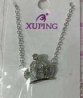 50 Короны- подвески и кулоны оптом. Позолоченная подвеска корона Xuping с цепочкой.