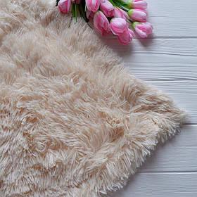 Меховый плед, материал - бамбук, цвет - кремовый