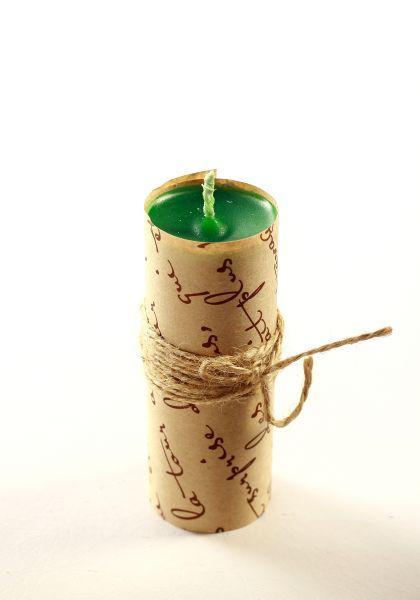 Свеча ручной работы зеленая S