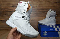 Сапоги женские Adidas Terrex 2 с мехом белые (зимние сапоги) (Реплика ААА+)