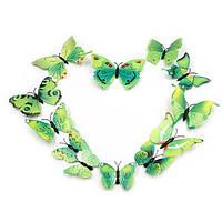 Зеленые бабочки для декора.