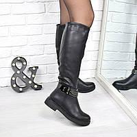 Сапоги женские Tempo черные ЗИМА 3826 , обувь днепр