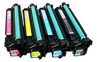 Комплект картриджей CE250A CE251A CE252A CE253A HP б.у. первопроходных